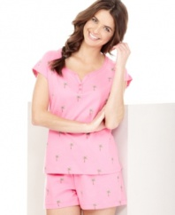 Cozy up to the style and color of your choice with this adorable PJ set from Charter Club, featuring a variety of pretty patterns to choose from.