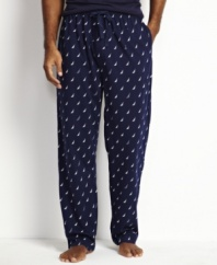 Bedroom style that isn't boring.  These Nautica pajama pants provide a comfortable feel with classic details.